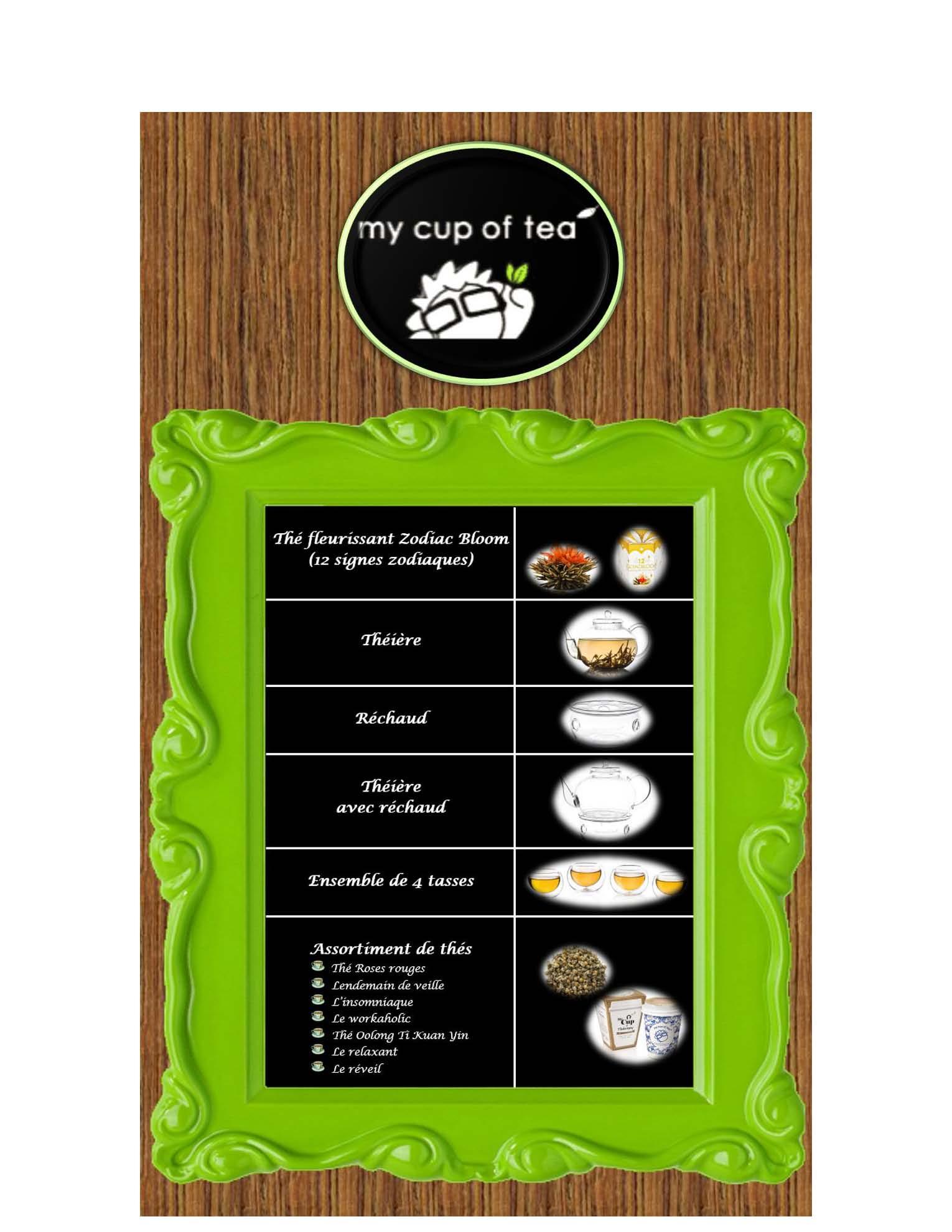 Produits thé - site web